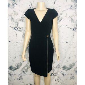Calvin Klein Sheath Dress Black Women Size 10